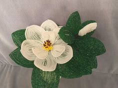 Magnolia suroeste francés cuentas flor por ANGELSBEADSFLOWERS