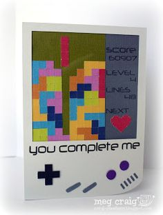 Tetris Card, Free Silhouette Files