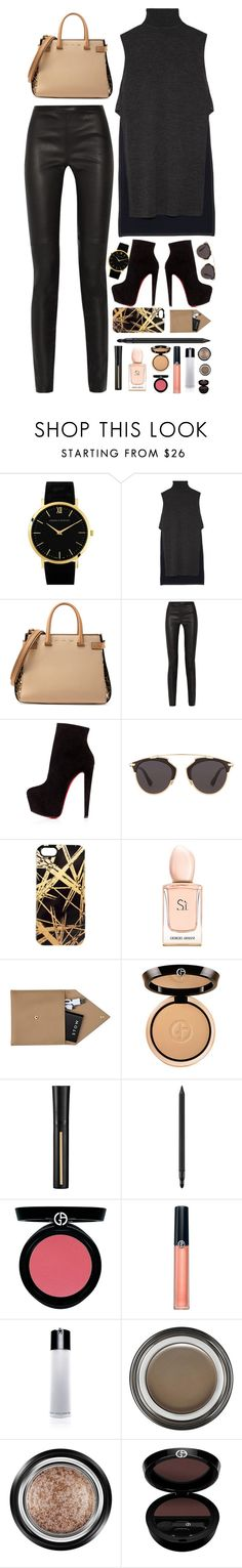 """""""You'll Never Know"""" by anneorganized ❤ liked on Polyvore featuring Larsson & Jennings, ADAM, VBH, Proenza Schouler, Christian Louboutin, Christian Dior, Khristian A. Howell, Armani Beauty, STOW and women's clothing"""