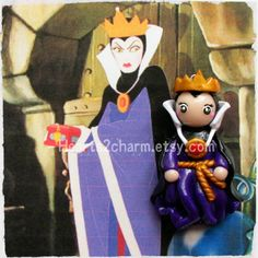 Disney's Evil Queen polymer clay chibi charm by Hearts2Charm, $15.00