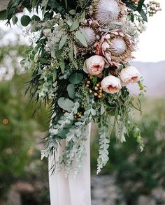 """35 Likes, 2 Comments - Hampton Event Hire (@hamptoneventhire) on Instagram: """"Can't get enough of gorgeous proteas for a bohemian wedding 🙌🌿 We love this wild floral styling by…"""""""