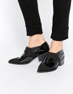 ASOS RADICAL Pointed Western Ankle Boots