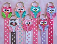 Set of 2 Owl Hair Bow Holder with Polka Dot by RyleesCollection, $10.00