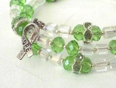 Green Kidney Cancer Awareness Wrap Bracelet by TaMuidBeo on Etsy, $35.00