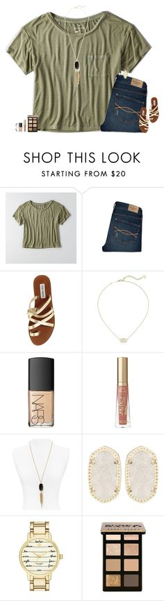 """•5/13/16•"" by maggie-prep ❤ liked on Polyvore featuring American Eagle Outfitters, Abercrombie & Fitch, Steve Madden, Kendra Scott, NARS Cosmetics, Kate Spade and Bobbi Brown Cosmetics"