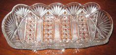 EAPG 1904 U.S.Glass  Panama, Viking oblong  relish glass tray