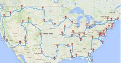 Perfect Road Trip Map. If you actually plan to execute the trip, you should budget 13,699 miles of driving — or about 224 hours.