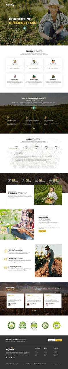 Agroly is a clean, elegant and modern design responsive premium HTML template for organic food, agriculture and vegetables professional website with 3 niche homepage layouts and 21+ pre-designed inner pages to download now & live preview click on image 👆