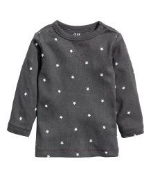 Jersey Top | Dark gray/stars | KIDS | H&M US