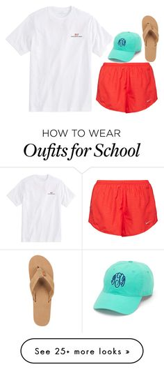 """I'm so sick of school"" by lillynelsonn on Polyvore featuring NIKE, Vineyard Vines and Rainbow"