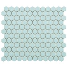 "Found it at AllModern - Retro 0.875"" x 0.875"" Hex Porcelain Mosaic Tile in Matte Light Blue"
