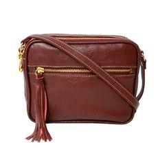 4cde45e19c Bolsa tiracolo couro vermelha é aqui na Allegra! A melhor bolsa transversal  de couro que
