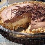 No-Bake Cream Cheese Peanut Butter Pie with Chocolate Whipped Cream | Holidays