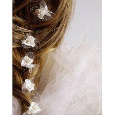 white Rose Wedding Hair Pins Hair Pins wedding by selenayy on Etsy