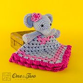 Ravelry: Elephant Lovey Security Blanket pattern by Carolina Guzman 3.99