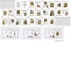 Miniature Printables - The Tale of Peter Rabbit Miniature Crafts, Miniature Dolls, Miniature Tutorials, Beatrix Potter, Mini Books, Book Crafts, Paper Crafts, Peter Rabbit Books, Doll House Crafts