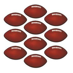 These mini football cutouts are great decorations to hang around or use as name tags for your football party!