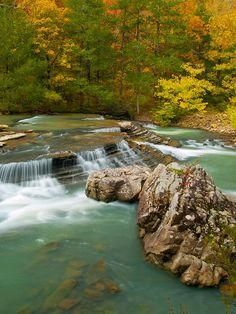 Six Fingers Falls in Ozark National Forest, northern Arkansas, USA | Brian Cormack, Flickr