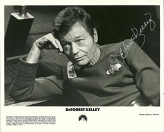 "DeForest Kelley as Leonard ""Bones"" McCoy"