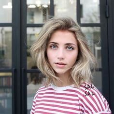 ash blonde, blue eyes, pale, emily rudd