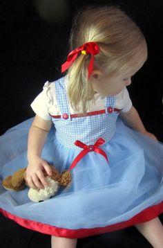 Dorothy Costume Tutu Dress Blue and White tutu by KnottedWear, $39.95