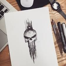 Resultado de imagen de daredevil punisher tattoo