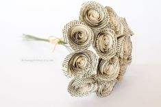 PLEASE READ THIS ENTIRE LISTING TO UNDERSTAND HOW TO ORDER. Have your favorite book turned into your favorite flowers! This bouquet makes a lovely and meaningful gift for a first anniversary or as pretty home decor for yourself. Like this item? Pin, Share, Like or Tweet to tell your