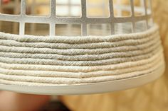 IHeart Organizing: DIY Rope Basket    /Super clever! She has great ideas all over this blog too.