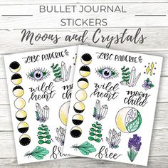 Change the planner game with printable bullet journal stickers from LBC Paperie! These witchy stickers are perfect for any boss babe looking to add some magic to her planner. Click through to find all the inspiration you need! Bullet Journal Monthly Spread, Bullet Journal Layout, Bullet Journal Inspiration, Journal Ideas, Journal Stickers, Planner Stickers, Journal Template, Halloween Stickers, Heart For Kids