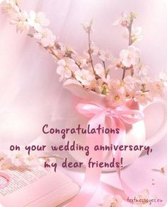 Happy Wedding Anniversary Messages Wishes For Couple With Image – Fashion Cluba Happy Wedding Anniversary Message, Anniversary Quotes For Friends, Happy Wedding Anniversary Wishes, Anniversary Greetings, Anniversary Cards, Birthday Wishes, Happy Birthday, Birthday Greetings, Birthday Freebies