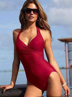 Fashionable Plus Size One Pieces UnderWired Push Up Slim Fit Swimsuits Drop Shipping, $17.5 | DHgate.com