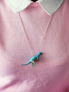 Funny dino necklace