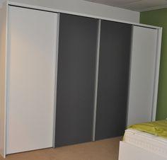 Kast Basic Emotion 4 deurs wit grey nolte delbruck met silent glise  panorama element  slaapkenner theo bot grijs alpine wit