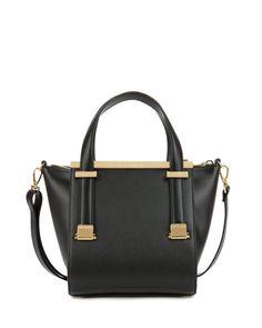 Leather metal bar shopper - Black   Bags   Ted Baker FR