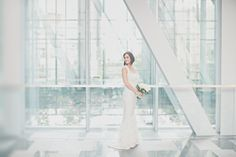 Sleeveless column style wedding gown | photography by http://www.lovetheschultzes.com/