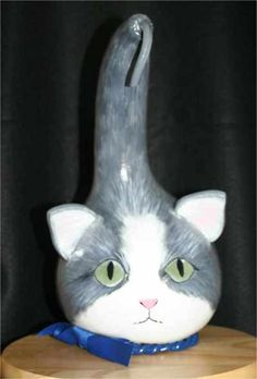 Image result for gourd cat Gourds Birdhouse, Birdhouse Ideas, Girls Night Crafts, Spring Photography, Painted Gourds, Adult Crafts, Gourd Art, White Cats, Cat Face