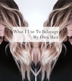 Learn how to do the beloved balayage technique on yourself! I'll show you what I use to do my own balayage using professional products. hair What I Use to Balayage My Own Hair - Cassie Scroggins Diy Ombre Hair, Ombre Hair Color, Hair Color Balayage, Balayage Highlights, Balayage Diy, Diy Balayage At Home, Balayage Hair How To, Diy Hair Highlights, Highlights At Home