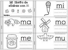 mi librito para la letra m - mi librito de silabas con m - ma, me, mi, mo, mu…