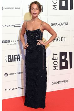 Alicia Vikander in Louis Vuitton at the Brit Independent Film Awards.