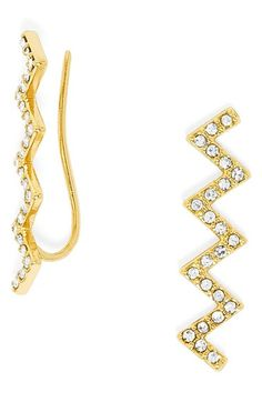 BaubleBar+'Ice'+Zigzag+Ear+Crawlers+available+at+#Nordstrom