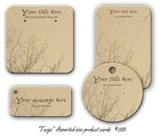 Jewelry Cards Earring display 088 Necklace Display Cards Bracelet Tags Twigs, Product Tags Personalized jewelry cards, Plastic barbs