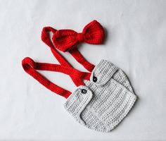 Diaper Cover Suspenders and Bow tie Newborn by SweetBabyJamesShop