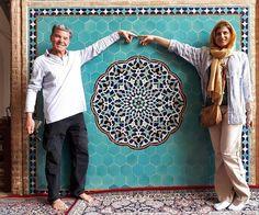 Happy Tourists in Jame Mosque of Yazd, Iran | surfingpersia.com