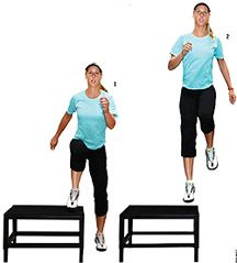 Knee drive-remember this for high jump and long jump practice!