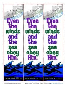 Jesus Is Lord Over Nature Bookmarks