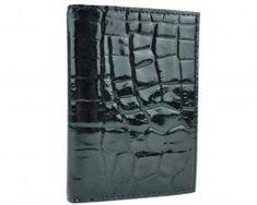 Luxusné kožené puzdro pre doklady v lesklej čiernej farbe, vzor hadina (1) Outdoor Blanket