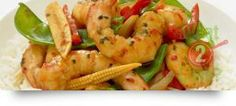 Prawn Stir Fry, Garlic, Chilli & Coriander: Enjoy the taste of Thailand and the sea with this quick and delicious stir fry. Green Capsicum, Green Onions, Prawn Stir Fry, 15 Minute Dinners, Gourmet Garden, Asian Recipes, Healthy Recipes, Prawn Shrimp, Midweek Meals