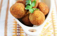 Cilantro & Cotija Cheese Idaho® Potato Croquettes | Recipe on idahopotato.com @Melissa Bailey | Hungry Food Love
