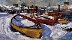 Winter Boat painting by Jeremy Winborg