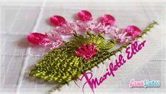 İğne Oyası Havlu Kenarı Yapraklı Çiçek Yapımı Videolu Anlatımlı #havlukenarıörnekleri #kadın #çeyizlik #towellace #handtuchspitze #handmade